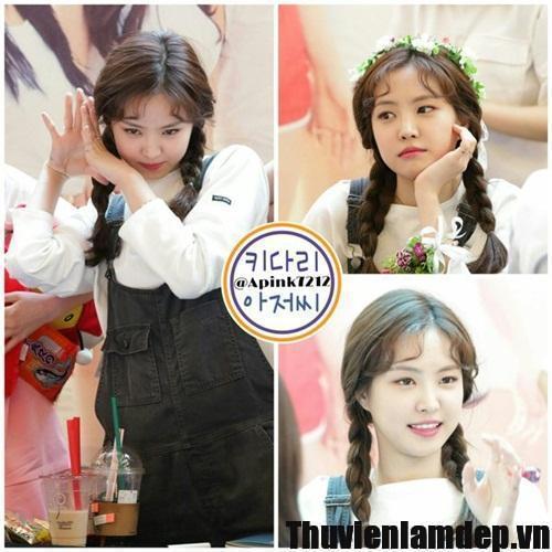 Trào lưu Kiểu tóc mái xoăn cột bím 2 bên style đáng yêu Hàn Quốc khiến Giới Trẻ thích mê Hè 2016